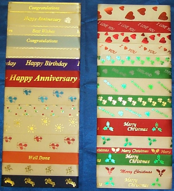 Printed Ribbon Selection